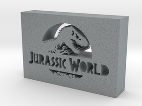 Jurassic World Logo in Polished Metallic Plastic