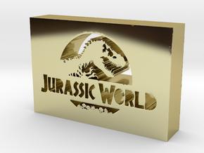 Jurassic World Logo in 18k Gold