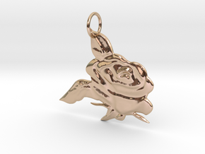 Rose Pendant in 14k Rose Gold Plated Brass