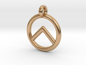 Spartan Shield Pendant/Keychain in Polished Bronze
