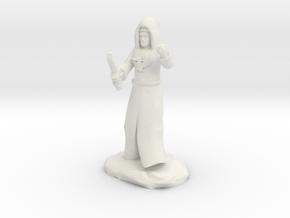 Dragon Cultist with Dagger in White Natural Versatile Plastic