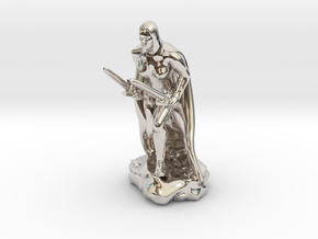 Female Human Rogue in Rhodium Plated Brass