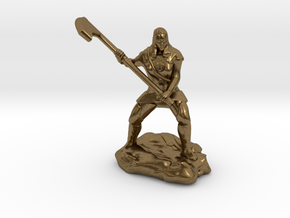Female Human Cleric of Wee Jas With Scythe in Natural Bronze