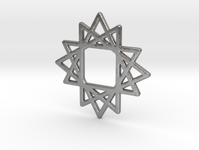 16 Point Star in Natural Silver