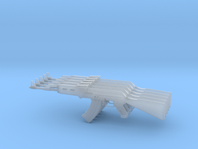 AK 47 pack x5 in Smooth Fine Detail Plastic: 1:48 - O
