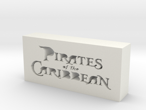 Pirates of the Caribbean Logo in White Natural Versatile Plastic