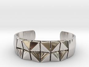 Box Flower Bracelet in Platinum: Small