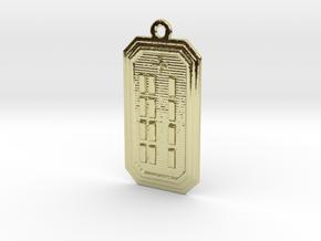 OGBEYEKUN in 18k Gold Plated Brass