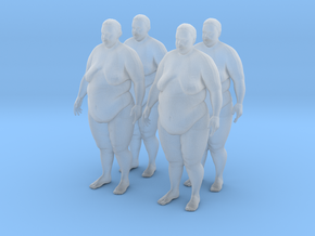 Fat Women 25 (x4) in Smooth Fine Detail Plastic: 1:72