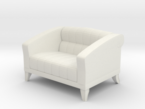 1/24 Love Seat Sofa in White Strong & Flexible