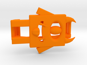 Monster Clip for Fitbit Flex2 in Orange Processed Versatile Plastic