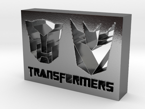 Transformers Logo in Polished Silver