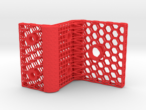 LATTICE BRACKET in Red Processed Versatile Plastic