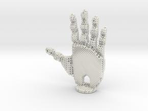 Robotic Hand in White Natural Versatile Plastic