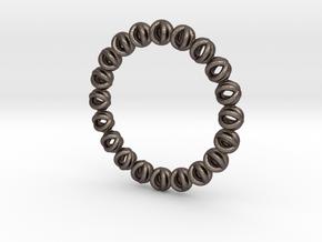 Bracelet Of Circles V2.5 in Polished Bronzed Silver Steel