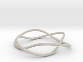 Bracelet with Two Rings V2.5 in Natural Sandstone