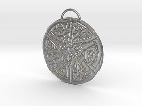 Celtic Knot Pendant 5 in Natural Silver: Small