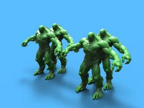 Abomination marvel (x4) in Smooth Fine Detail Plastic: 1:72