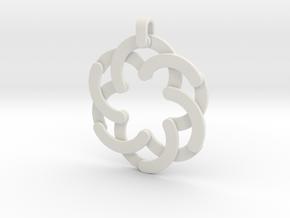 Expandable Hexagonal Pendant  in White Natural Versatile Plastic