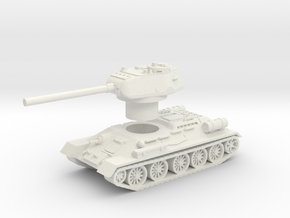 T34-85 Rotatable turret in White Strong & Flexible