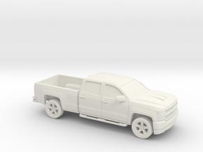 1/87 2016/17 Chevrolet Silverado Long Bed in White Strong & Flexible