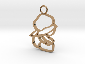 Top & Tail Silver Sitting Baby Figure in Polished Brass