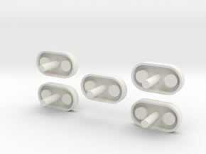 Thrust Structure Adapter 1:48 5 Pack in White Strong & Flexible