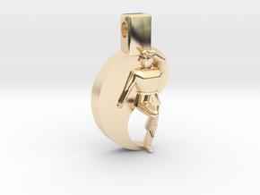 Pendant - Mens Keumgang in 14k Gold Plated Brass
