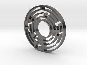 Maze 4 in Polished Nickel Steel