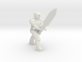 General Paladin Mini 2 (Greatsword) in White Natural Versatile Plastic