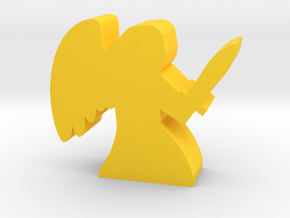 Game Piece, Angel with sword in Yellow Processed Versatile Plastic