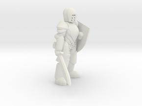 General Paladin Mini (Sword and Shield) in White Natural Versatile Plastic