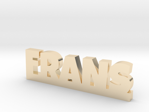 FRANS Lucky in 14k Gold Plated Brass