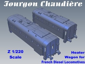 1-220 Fourgon Chaudiere 800kg-1300kg in Smooth Fine Detail Plastic