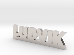 LUDVIK Lucky in Rhodium Plated Brass