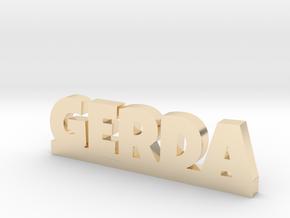 GERDA Lucky in 14k Gold Plated Brass