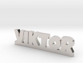 VIKTOR Lucky in Rhodium Plated Brass