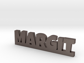 MARGIT Lucky in Polished Bronzed Silver Steel