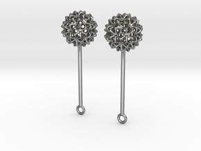 Virus Ball -- Earring Jackets or Earrings in Metal in Polished Silver