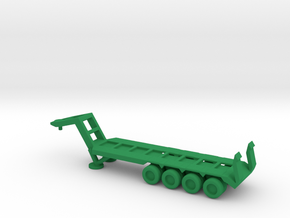 1/200 Scale M747 Semitrailer Low Bed in Green Strong & Flexible Polished