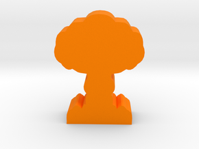 Game Piece, Mushroom Cloud in Orange Processed Versatile Plastic