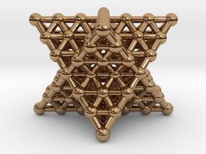Merkaba Matrix 3 - Surface - Star tetrahedron grid in Polished Brass