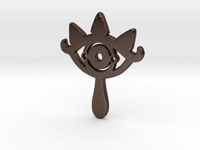 Sheikah Slate Earring in Polished Bronze Steel: Medium