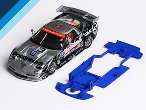 1/32 Fly Chevrolet Corvette C5-R Chassis S.it AW in Blue Strong & Flexible Polished
