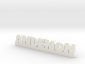 ANDENON Lucky in White Processed Versatile Plastic