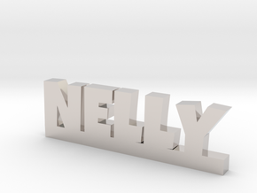 NELLY Lucky in Rhodium Plated Brass