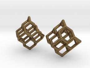 Diamond earrings in Natural Bronze