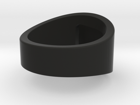 AMSA (chopstick assistant) - Thumb Ring in Black Natural Versatile Plastic