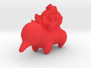 Cyndaquil in Red Strong & Flexible Polished