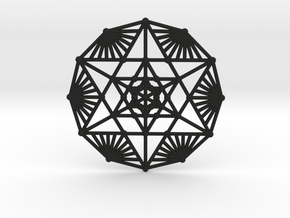 Merkaba Fractal in Black Natural Versatile Plastic